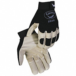 Mechanics Gloves, Black/Tan, L, PR