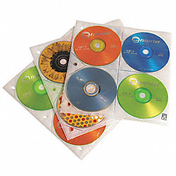 CD/DVD Sleeve Refill, 8, Clear, PK 25