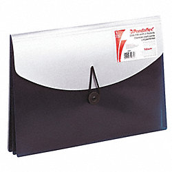 Expandable File Wallet, Blue/Silver, Poly