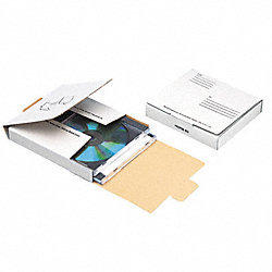 CD Mailer Carton, White, Fiberboard