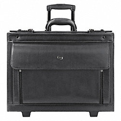 Roller Laptop Case, Black, Leather