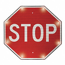 Blinking Sign, Stop, 24 x 24 In.