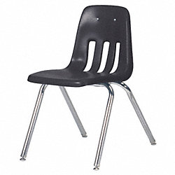 Stack Chair, Plastic, Black
