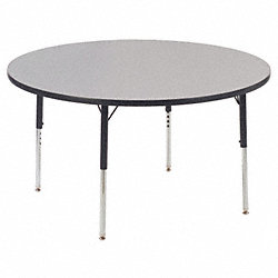 Activity Table, Round, 48 In, Gray Nebula