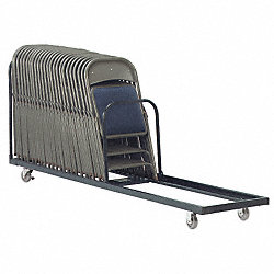 Folding Chair Cart, 38-1/4 x 100 x 21 In