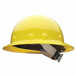Hard Hat, Full Brim, E/G/C, Ratchet, Yellow