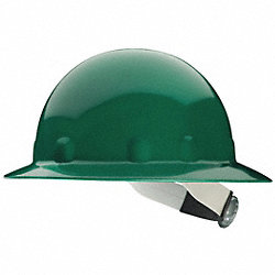 Hard Hat, Full Brim, E/G/C, Ratchet, Green