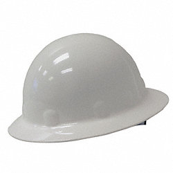 Hard Hat, Full Brim, E/G/C, SwingStrap, Whi