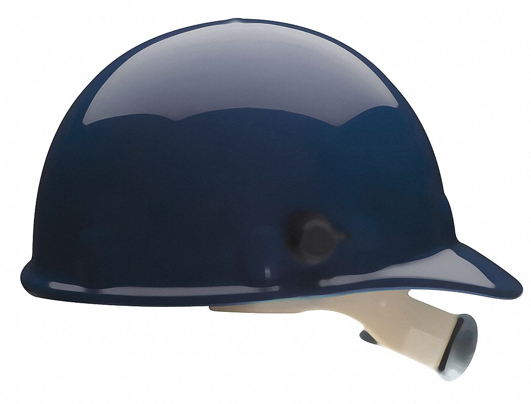 Fibre-Metal by Honeywell Hard Hat, Front Brim, G/C, Tab Lok, Dk Blue E2QW75A000 at Sears.com
