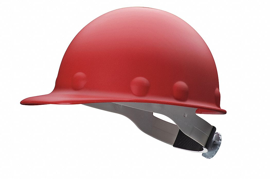 Fibre-Metal by Honeywell Hard Hat, Front Brim, G/C, Swingstrap, Red P2ASW15A000 at Sears.com