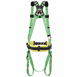 Full Body Harness, 3XL, 400 lb., Green