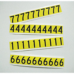 4In Vinyl SelfAdhesive Block NumberSet