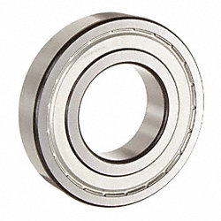 Radial Ball Bearing, Shielded, Dia. 55mm