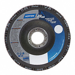 Flap Disc, 4 1/2 In X, 80 Grit, 7/8, TY29