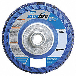 Flap Disc, 4 1/2 In X, 60 Grit, 5/8-11, TY27