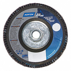 Flap Disc, 4 1/2 In X, 80 Grit, 5/8-11, TY29
