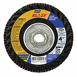 Flap Disc, 4 1/2 In X, 120 Grit, 7/8, TY27