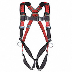 Full Body Harness, Standard, 400 lb., Red