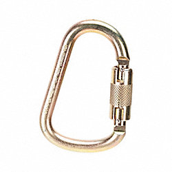 Carabiner, Steel, 4-9/10 In. L, Auto-Lock