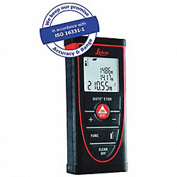 Laser Distance Meter, 1.6 In -265 ft, IP54