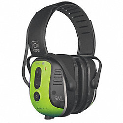 Electronic Ear Muff, Over-the-H, Grn