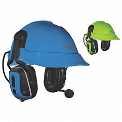 Electronic Ear Muff, Helmet Mt, Wht