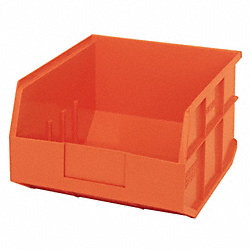 Stackable Shelf Bin, 12x11x7, Orange