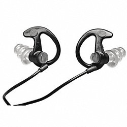 Full Block Ear Plugs, Blk/Blk, 26dB, M, PR