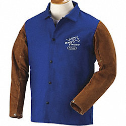 Welding Jacket, FR, Cow Split, Navy, XL