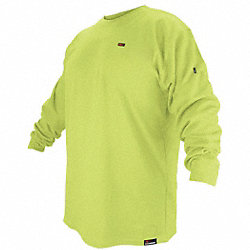 FR Long Sleeve T-Shirt, HRC 2, Lime, M