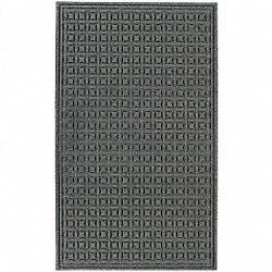 Entry Mat, PET Polyester, Gray, 4x6ft