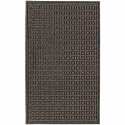 Entry Mat, PET Polyester, Brown, 3x5ft