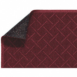Entry Mat, Antistatic, PET Poly, Red, 3x5ft