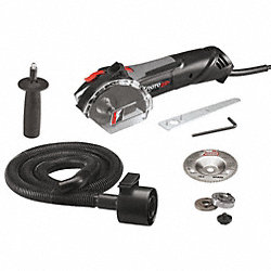 Spiral Saw Kit, 11, 000 RPM, 7.0A, 15 In. L