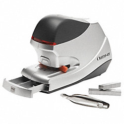Electric Stapler, 1/4 to 1-1/2 In., Silver