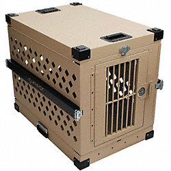 XL Collapsible Dog Crate, 40x22x27H, Alum