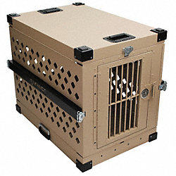 Lrg Collapsible Dog Crate, 34x22x26H, Alum