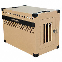 XL Stationary Dog Crate, 40x23x28H, Alum