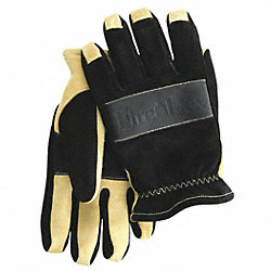 Firefighting Gloves, Black/Tan, L, PR