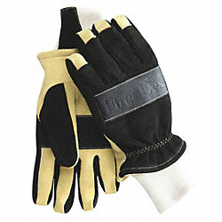 Firefighting Gloves, Black/Tan, XL, PR