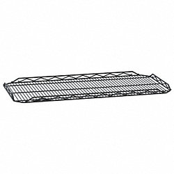 Wire Shelf, 14x36 in., Black, Epoxy, PK4