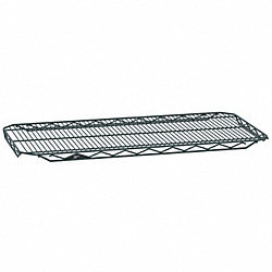 Wire Shelf, 18x36 in., Smoke, Epoxy, PK4