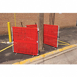 Barrier System, Orange, 48 x 4 x 48 In