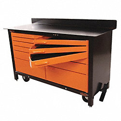 Rolling Workbench, 60x24.25x39.25, 12 Drwr