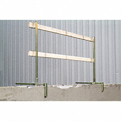Guardrail, Yellow, Alloy Steel, 51 In. H