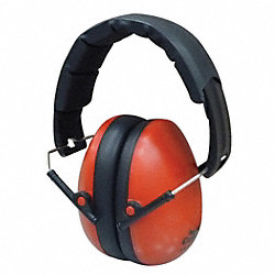 Ear Muffs, Foldable, Red, 27dB