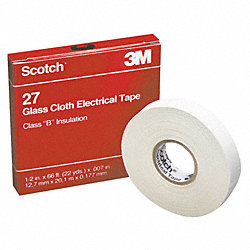 Electrical Tape, 1/2 x 66 ft, 7 mil, White