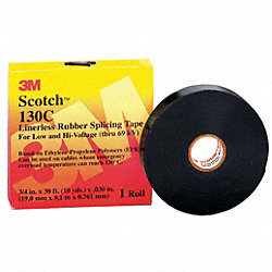 Splicing Tape, 1 In x 30 ft, 30 mil, Black