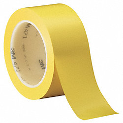 Marking Tape, 2In W, 108 ft. L, Yellow