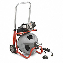 Drain Cleaning Machine, 3/8 In Cable
